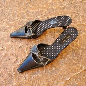 Kate Spade Flat Bows Kitten Heel Mules 6.5
